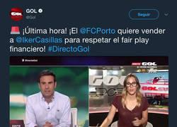 Enlace a El ZASCA tremendo de don Iker Casillas a Gol Televisión tras dar esta noticia sobre él
