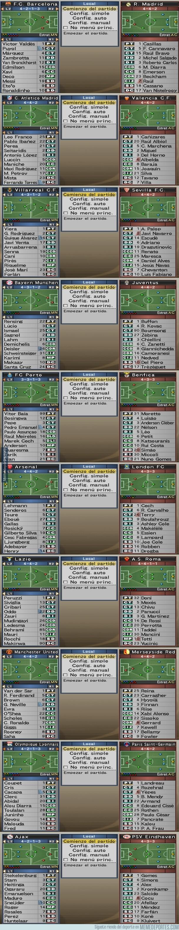 1005448 - El Inter y el AC Milan no eran los únicos equipazos del PES 6