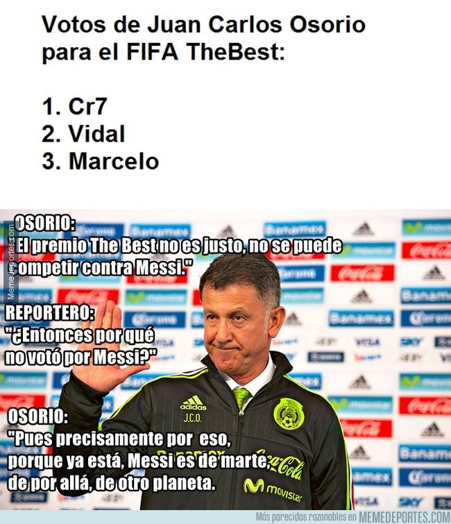1005536 - Juan Carlos Osorio no votó a Messi para el TheBest y explica por qué