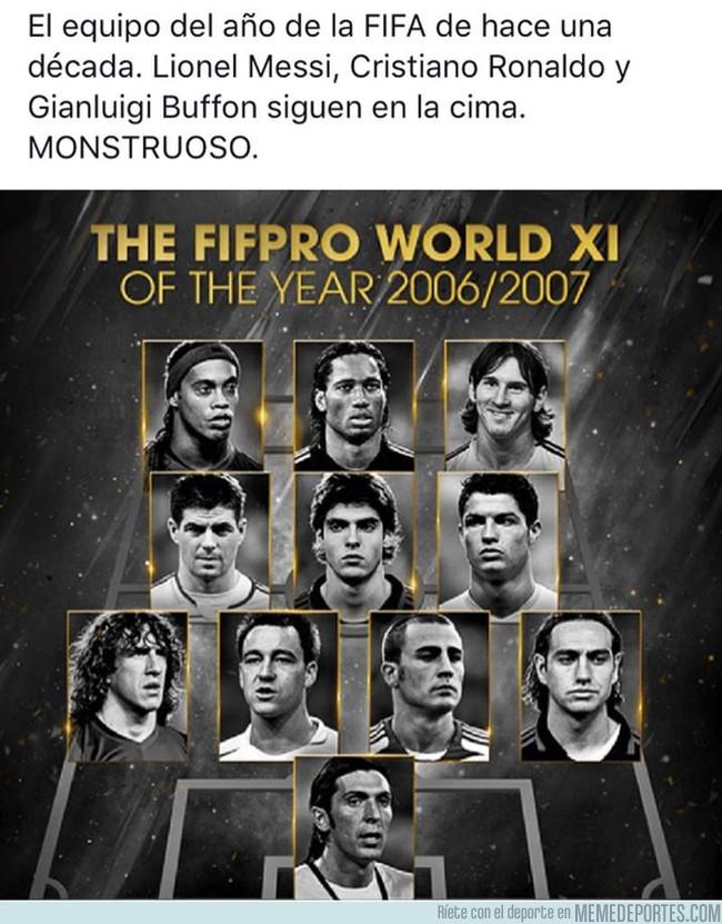 1005624 - Éste es el equipo del año de la FIFA hace 10 años, con muchas caras conocidas