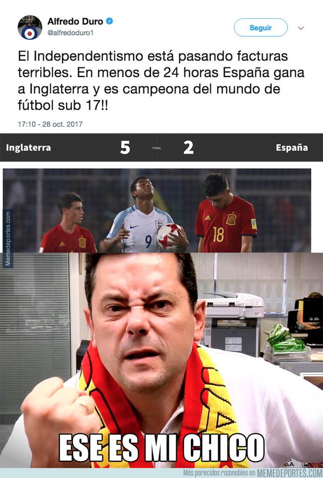 1005675 - El polémico tuit de Alfredo Duro en la final España - Inglaterra que se le ha vuelto en contra