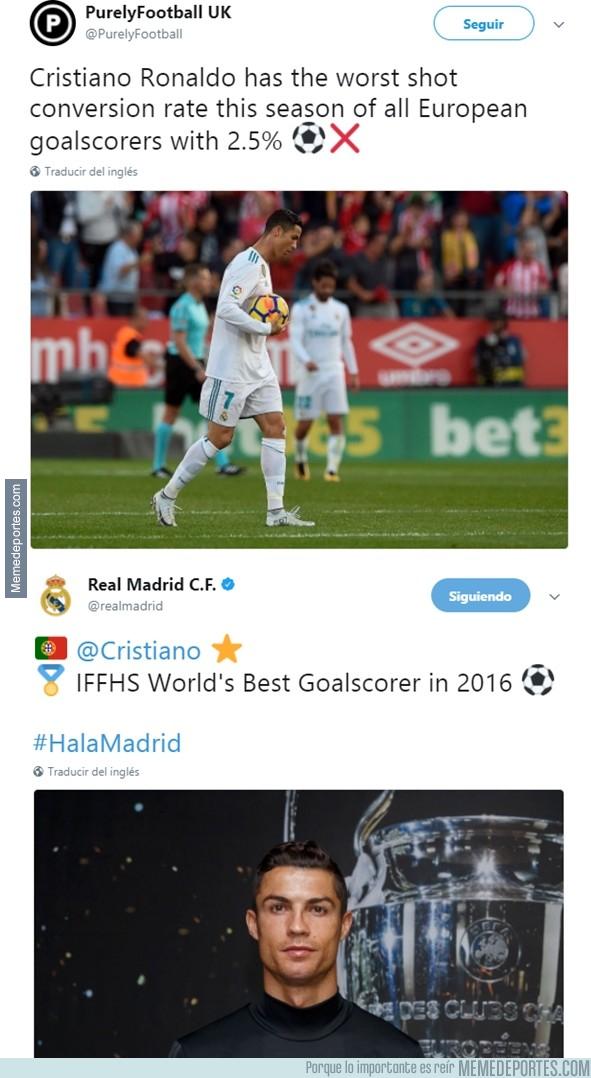 1006556 - 2 noticias del acierto goleador de Cristiano que se entienden mejor juntas