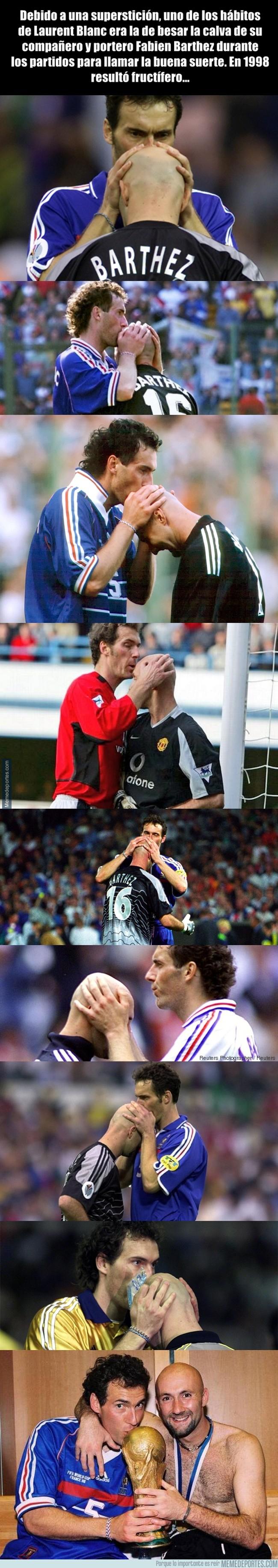 1006600 - La superstición entre Blanc y Barthez que les hizo ganar el Mundial en 1998