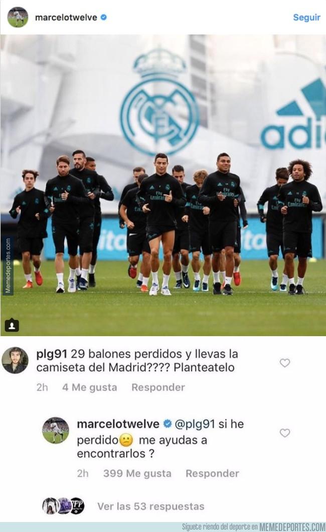1006619 - La sutil callada de boca de Marcelo a un hater de Instagram