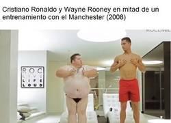 Enlace a Ronaldo en su época del United