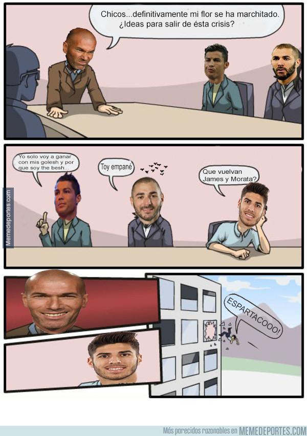 1006730 - La flor se marchitó y Zidane pregunta por nuevas ideas para remontar