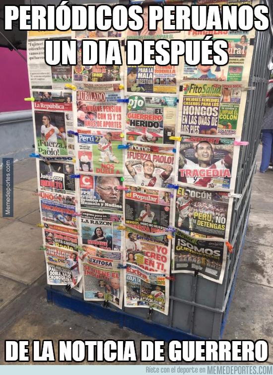 1006734 - Periódicos de Perú un día después de la noticia de Guerrero