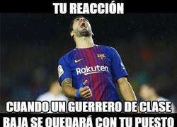 Enlace a Suárez está en problemas con Alcácer