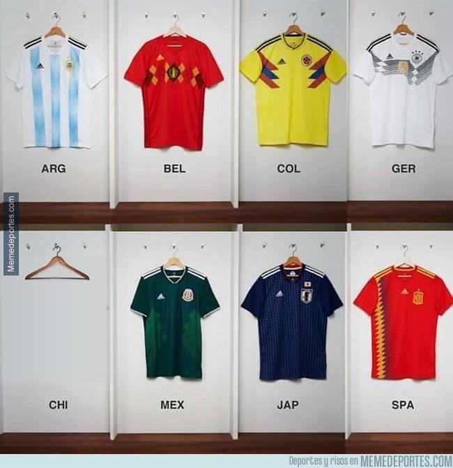 1006916 - Lista las camisetas de las selecciones para el Mundial