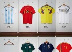 Enlace a Lista las camisetas de las selecciones para el Mundial