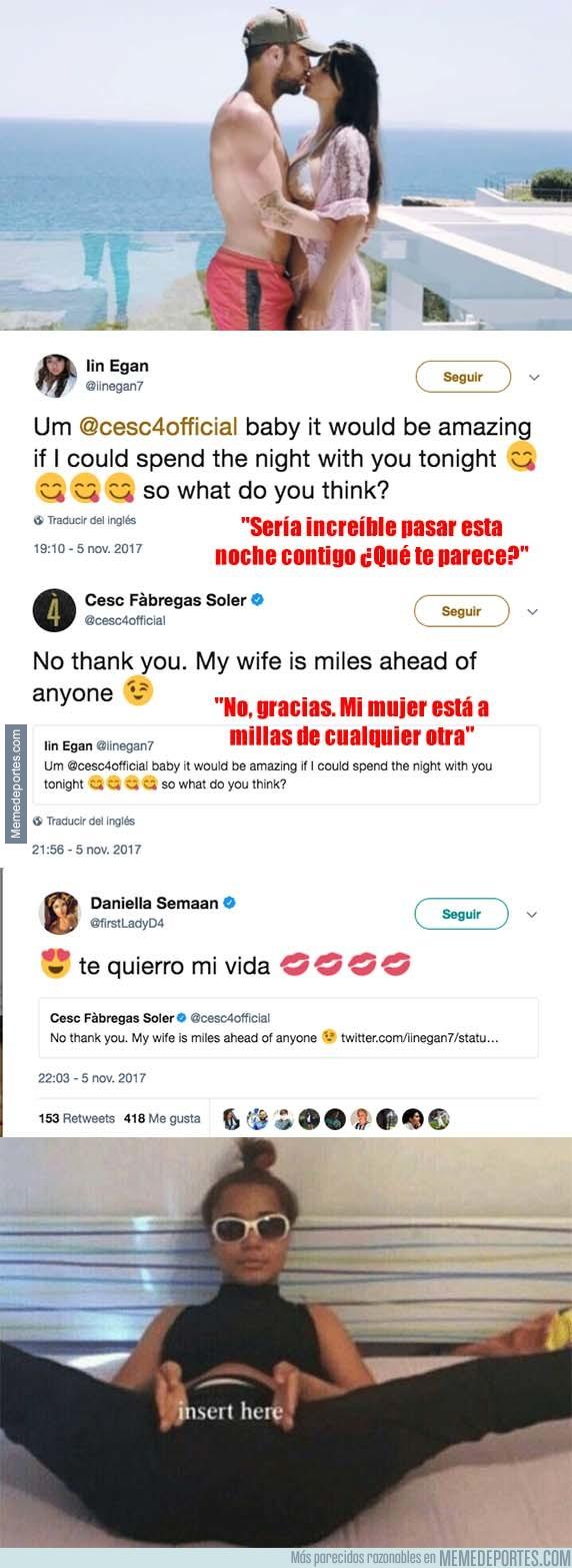 1007072 - La gran respuesta de Cesc Fábregas a una aficionada que le pidió pasar una noche con ella