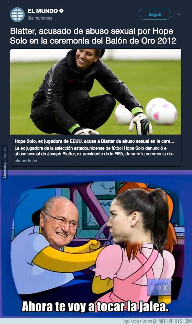 1007264 - La denuncia de Hope Solo contando los abusos que sufrió por parte de Blatter