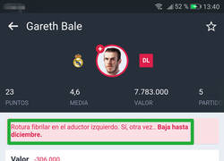 Enlace a PlayMister deja claro que Gareth Bale es de cristal
