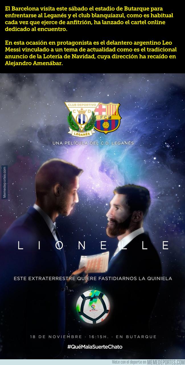 1007707 - El @CDLeganes homenajea el anuncio de la lotería para el partido contra el Barça, ¡se sale!