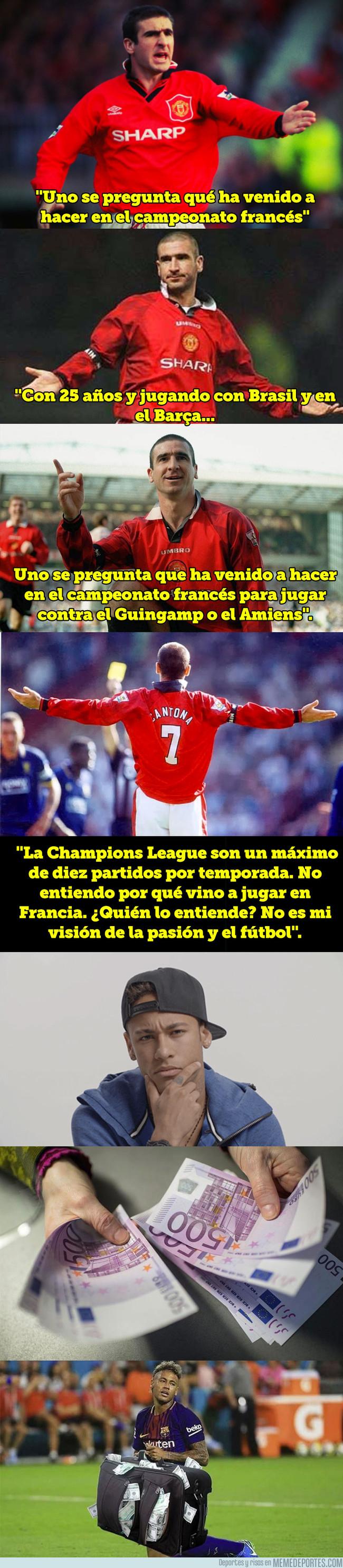 1007916 - El rajadón de Eric Cantona contra Neymar por su fichaje por el PSG