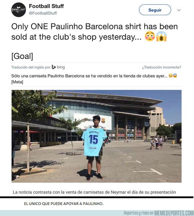 1008155 - El único que creyó en Paulinho, se merece un monumento