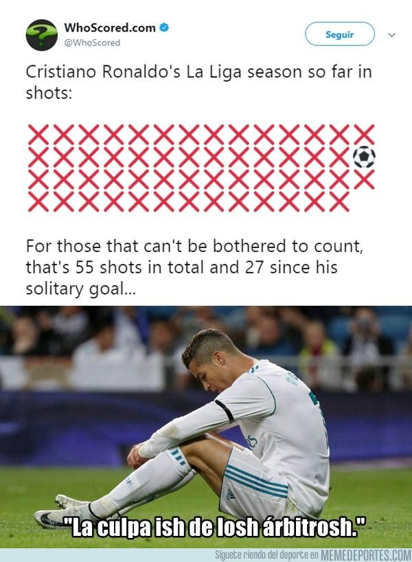 1008291 - Estos son los últimos remates de Cristiano a puerta, 55 y 27 desde el último gol