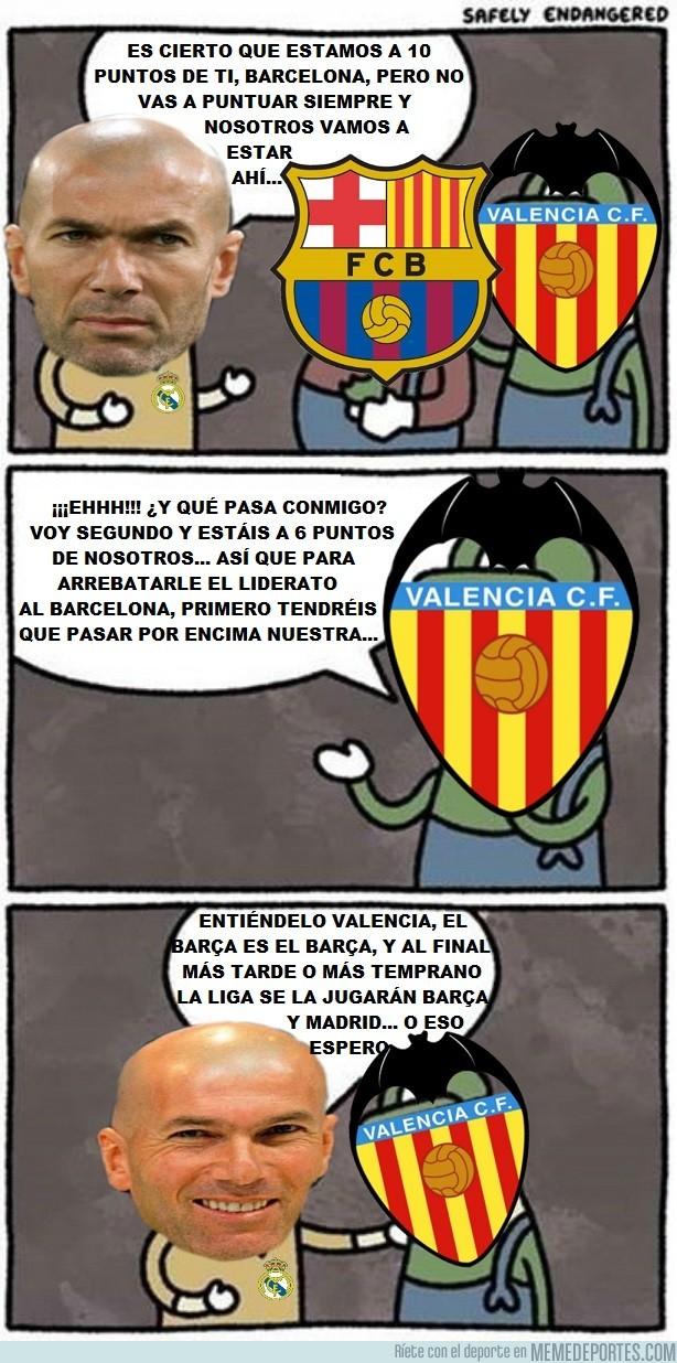 1008357 - Como siempre Zidane acordándose en sus declaraciones de su eterno rival, del Barça, cuando el Valencia también está en la pelea por la liga y ni lo nombra...