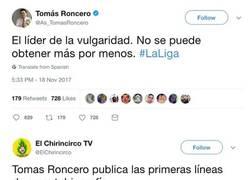 Enlace a Roncero se burla por enésima vez del Barça y le cae un ZASCA de libro, propiamente dicho
