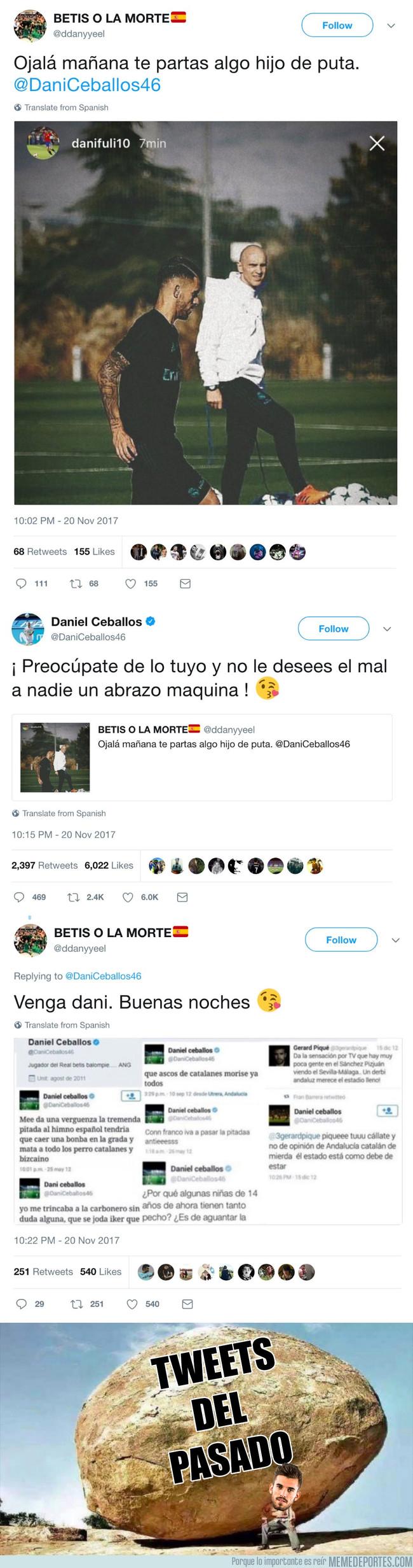 1008495 - Ceballos responde como un señor a un insulto, pero los tweets del pasado no dejarán de atormentarlo nunca