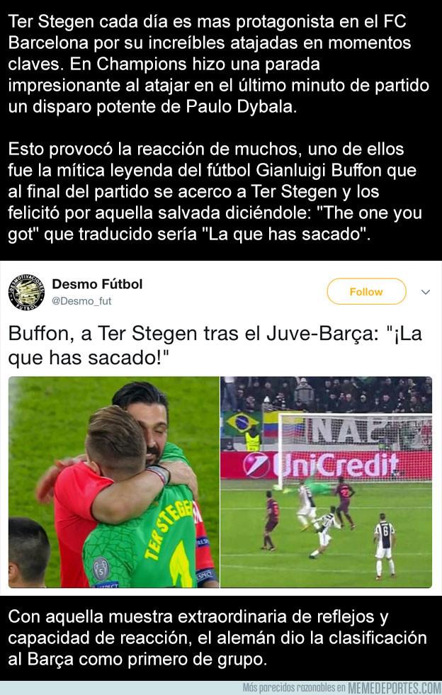 1008797 - Lo que le dijo Buffon a Ter Stegen tras salvar al Barça en el último minuto