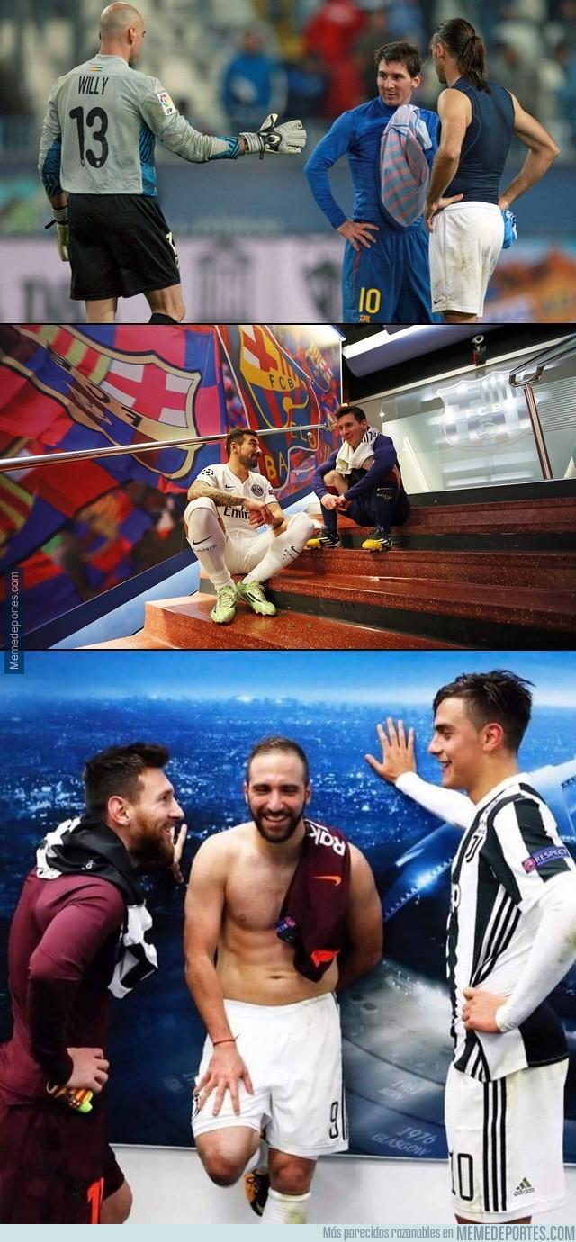 1008818 - Las reuniones post-partido de Messi con sus compatriotas
