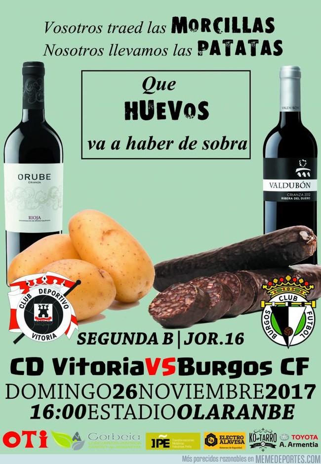 1009188 - El gracioso cartel para el CD Vitoria VS Burgos CF