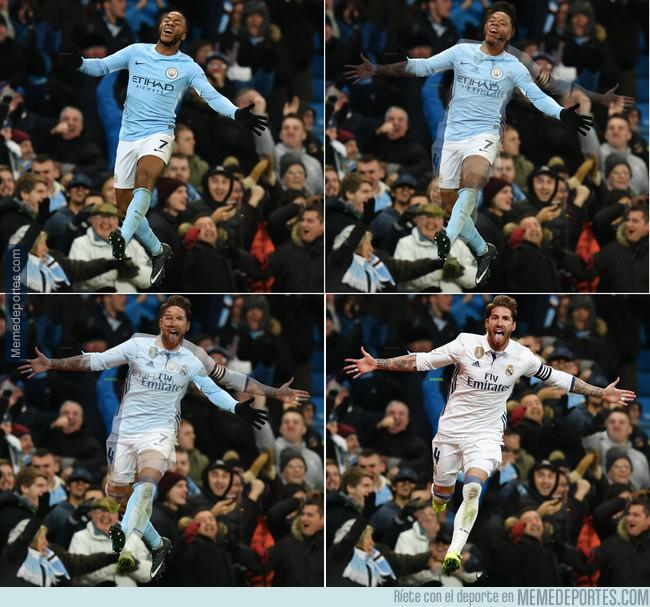 1009627 - Sterling después de marcar gol en el minuto 95'