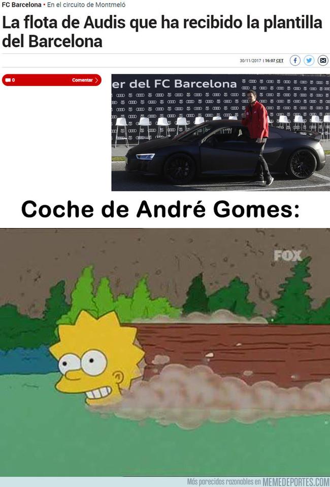 1009703 - El coche que Audi le ha dado a André Gomes