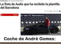 Enlace a El coche que Audi le ha dado a André Gomes