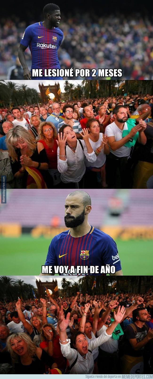 1010102 - Los defensas del Barça y su acogida