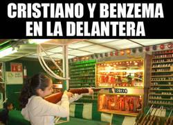 Enlace a Cristiano y Benzema en la delantera