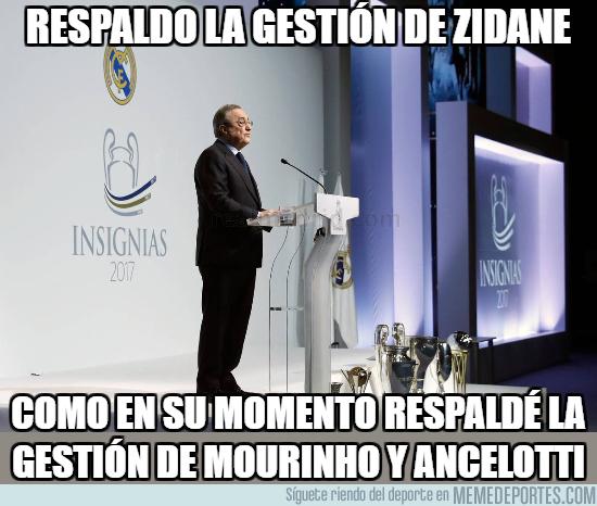 1010198 - Si dice esto, es que Florentino ya anuncia el próximo despido de Zidane