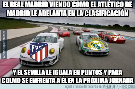 1010283 - Como se siente el Real Madrid en estos momentos: viendo como el Atlético de Madrid le ha adelantado y el Sevilla le pisa los talones...