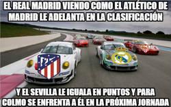 Enlace a Como se siente el Real Madrid en estos momentos: viendo como el Atlético de Madrid le ha adelantado y el Sevilla le pisa los talones...