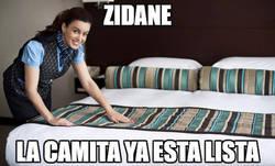 Enlace a Zidane está a punto de dormir