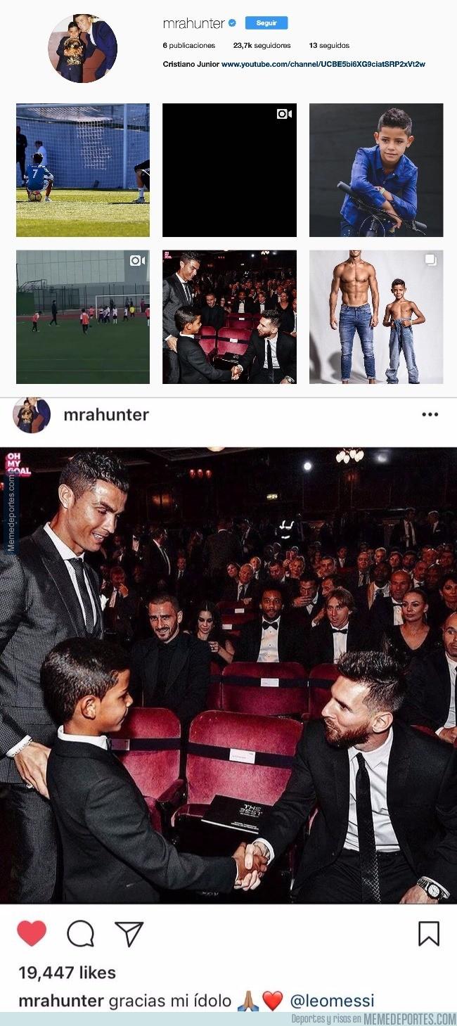 1010498 - El hijo de Cristiano estrena Instagram con una foto y un mensaje más que sincero