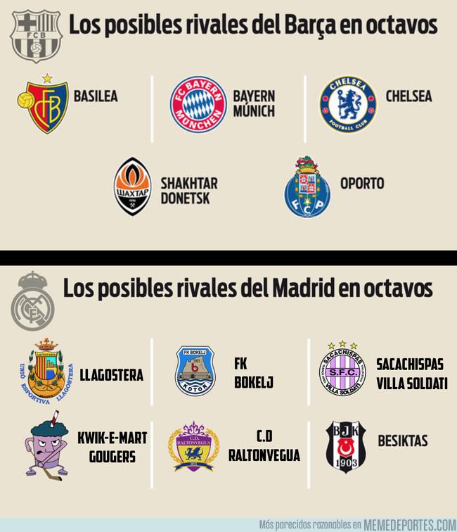 1010778 - Posibles rivales de Octavos de Madrid y Barcelona