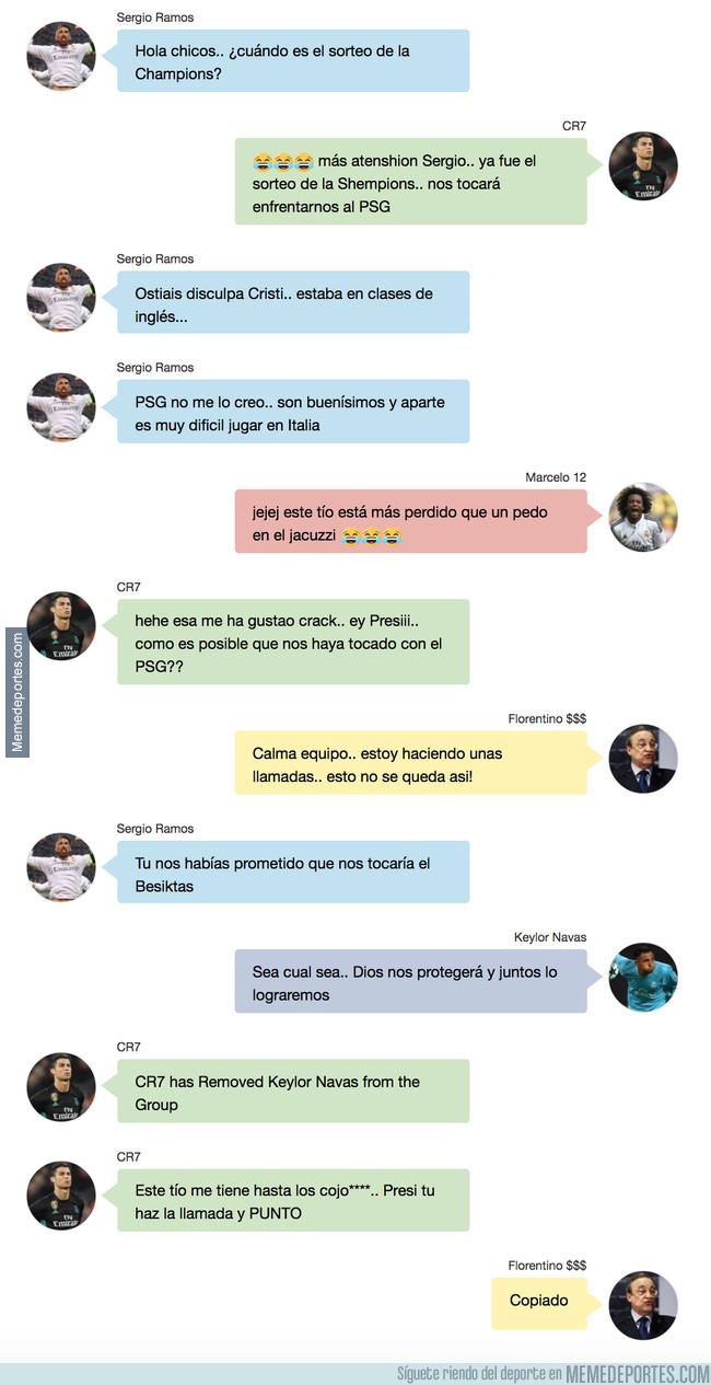 1011559 - Así fue la conversación del Real Madrid al enterarse que les tocaría contra el PSG. Vía 90min