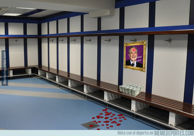 1011564 - Identifica el espacio reservado para Neymar en el vestuario de visitantes del Bernabéu