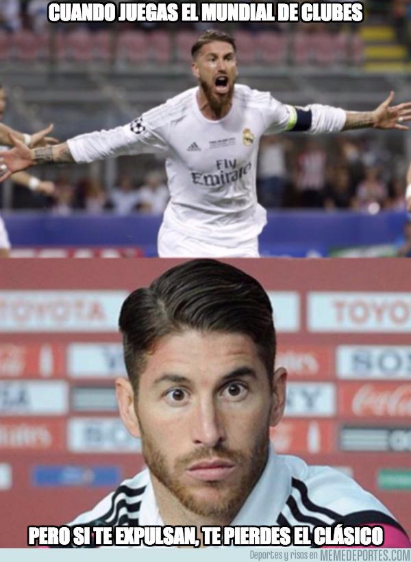 1011762 - Si un jugador del Real Madrid es expulsado en el Mundial, se perdería el clásico ante el Barça