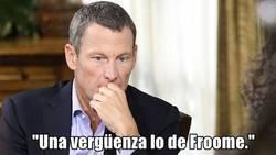 Enlace a Primeras declaraciones de Armstrong sobre el dopaje de Froome