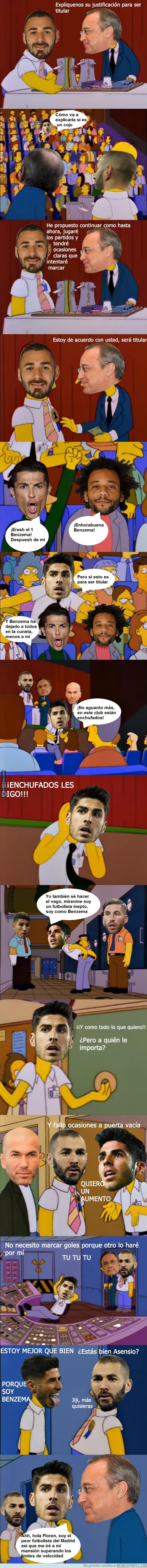 1012032 - Asensio no aguanta más la titularidad de Benzema