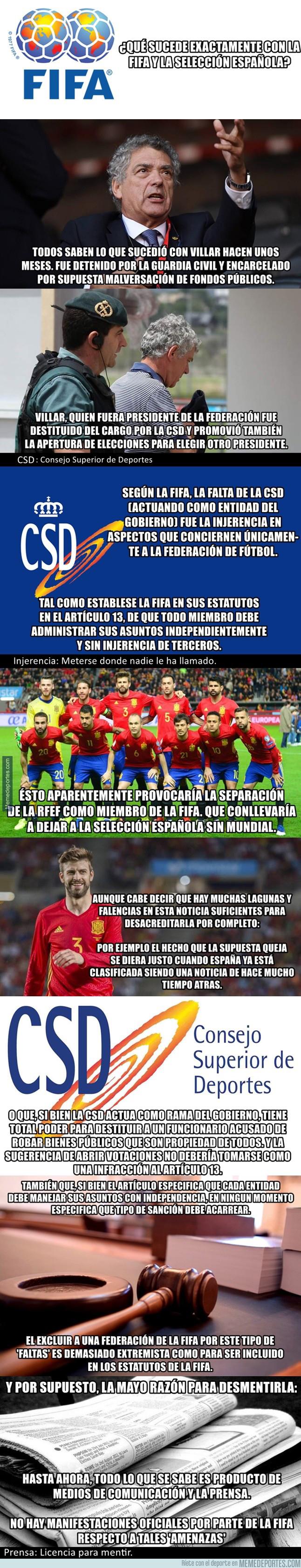 1012125 - Breve explicación de lo que 'sucede' entre la FIFA y la selección española