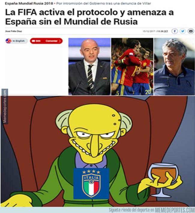 1012126 - FIFA plantea sancionar a España sin Mundial