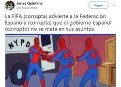 Enlace a Breve resumen de el altercado de la FIFA con la RFEF