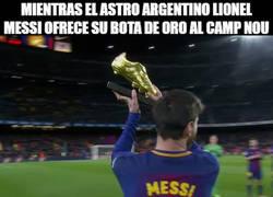 Enlace a Messi y Cristiano mostrando sus logros del 2017