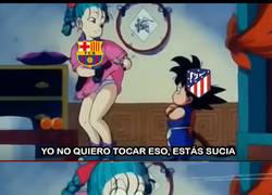 Enlace a Trifulca Barça Atlético por Griezmann, versión Dragón Ball