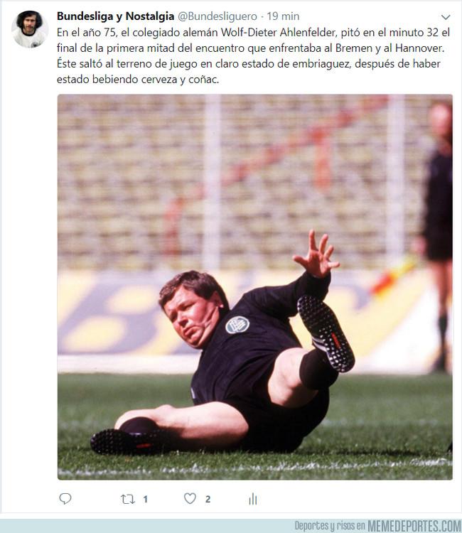1013010 - Cuando nos quejamos de los árbitros españoles, y aparece esta leyenda arbitral de la Bundesliga