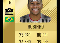 Enlace a Qué chula la carta de Robinho en FIFA 19